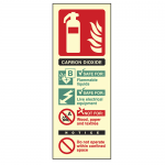 Photoluminescent Co2 Fire Extinguisher Sign