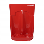 Red Plastic Fire Extinguisher Stand (Double)