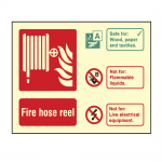 Photoluminescent Fire Hose Reel Sign