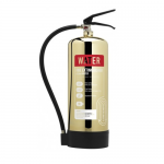 Contempo Polished Gold 6 Litre Water Fire Extinguisher
