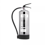 Contempo Polished Stainless Steel 6Ltr AFFF Foam Fire Extinguisher