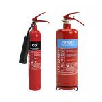 2kg ABC Dry Powder Fire Extinguisher & 2kg CO2 Fire Extinguisher
