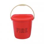 Plastic Fire Bucket & Lid
