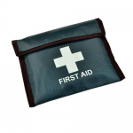 Travel First Aid Kit (30ACOPT) In Green Vinyl Pouch - HSE Compliant (Blue Dot)