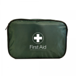 Travel First Aid Kit (30FHSET1) In Green Zipped Bag - HSE Compliant (Blue Dot)